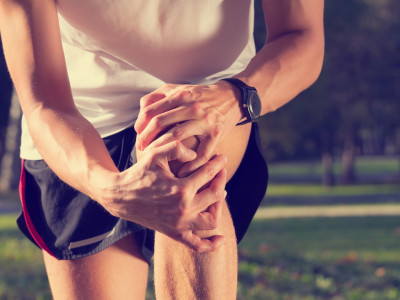 Jogging injury - warp up before any exercise.